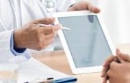 Krankengeschichte auf dem Tablet
