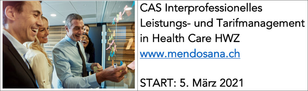 CAS Interprofessionelles Leistungs- und Tarifmanagement in Health Care